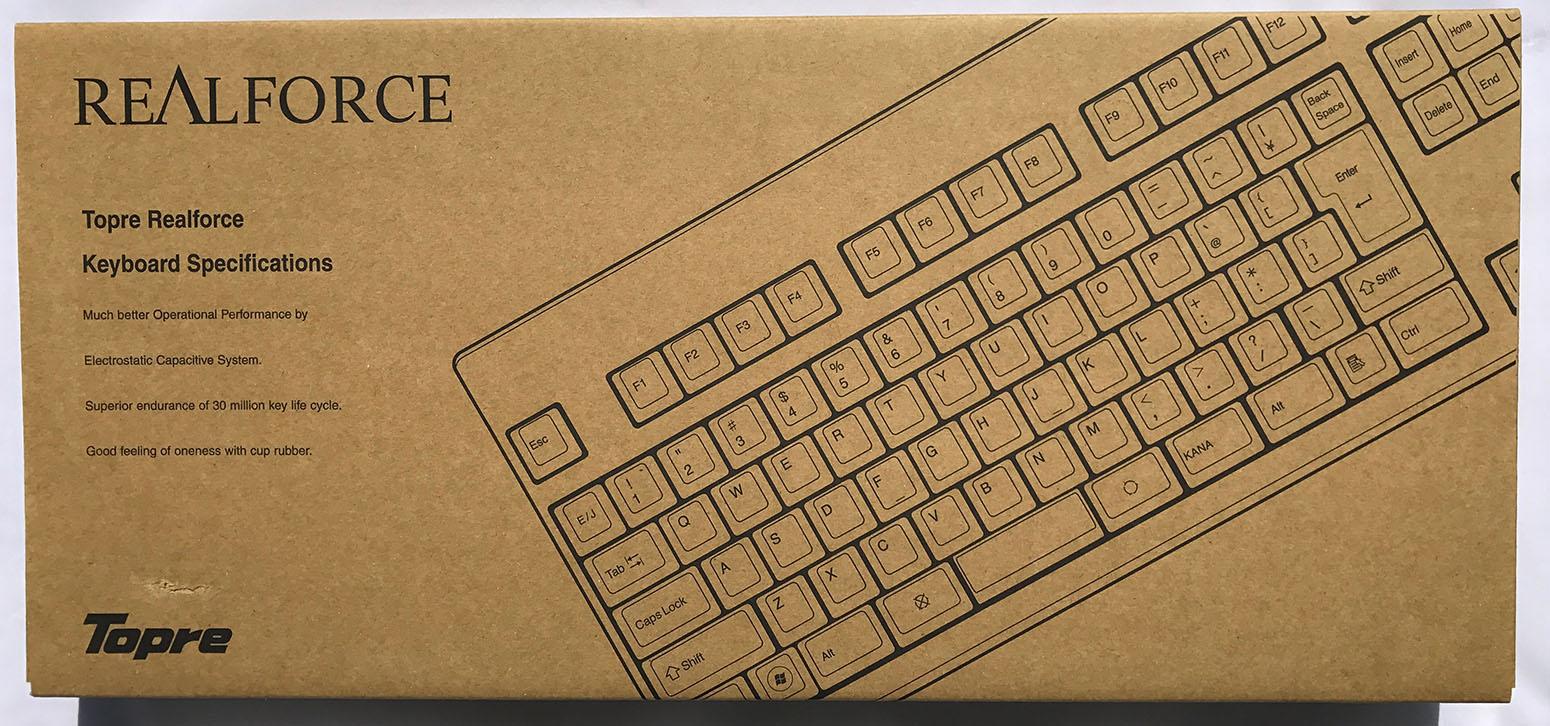 東プレのキーボードの箱の写真