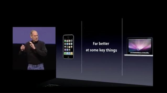 初代iPadの発表会のスライド