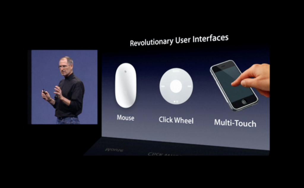 初代iPhone発表会の画像