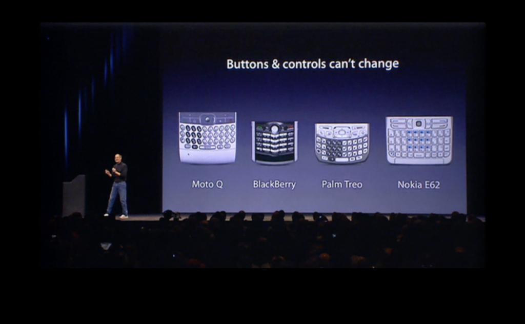 初代iPhoneの発表会のスライド