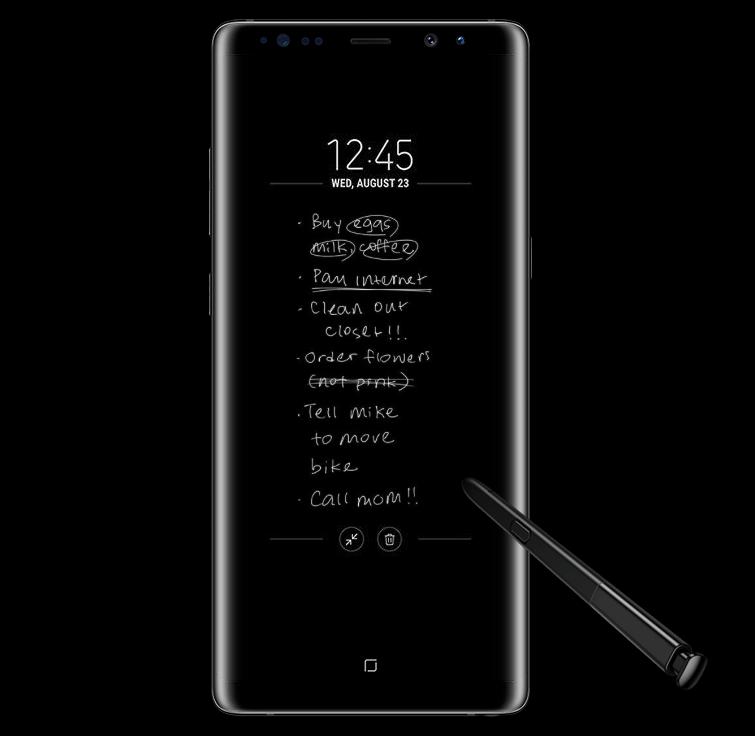 Galaxy Note 8を使った手書きメモの画像