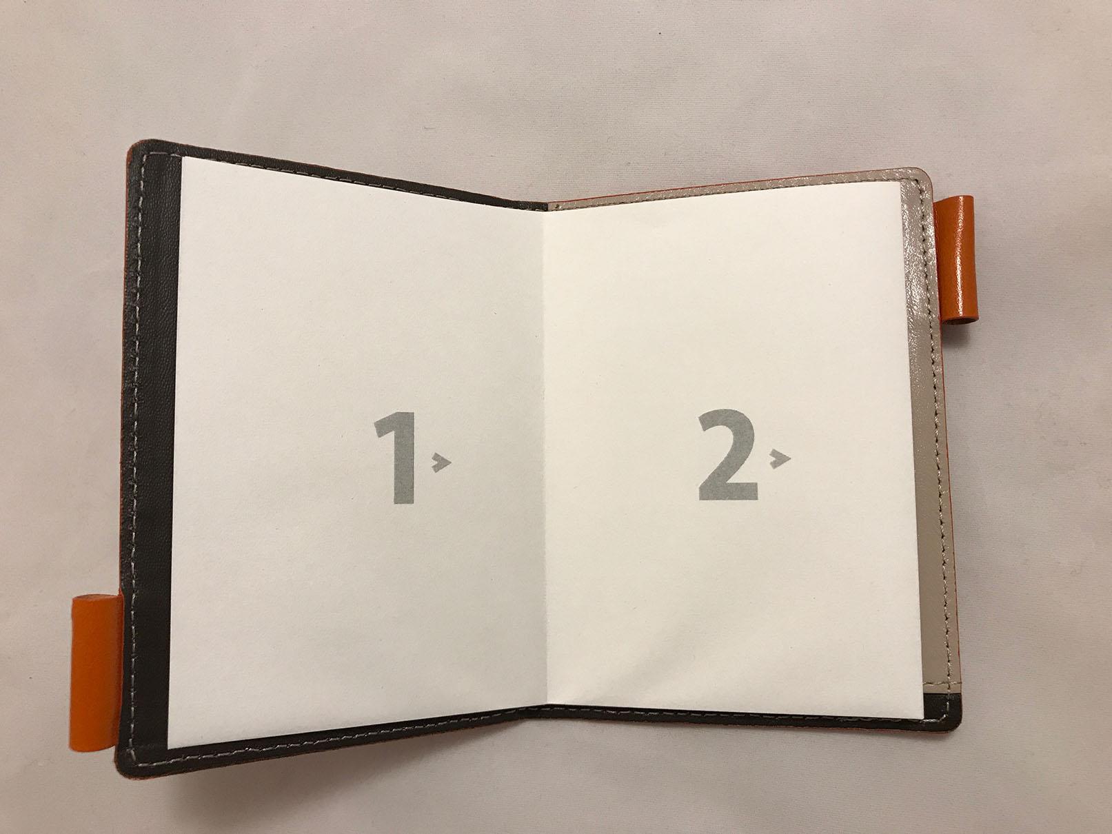 薄いメモ帳の画像